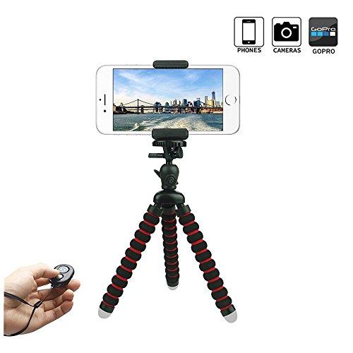 ini Flexibel Stativ mit Handyhalterung und Bluetooth Fernbedienung für iPhone, Sumsung, Kamera und andere Android-Smartphone ... ()