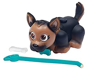 Giochi Preziosi - Desfile de Mascotas, Cachorro de Perro, de la Raza Pastor alemán con un Hueso y Plomo, Marrón / Negro