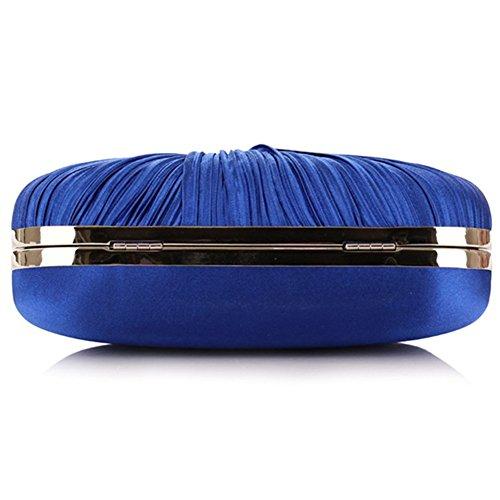 ERGEOB® Donna Clutch sacchetto di sera borsetta Clutch piccola raso frizione Borsa della sposa feste Donna Clutch taschino azzurro