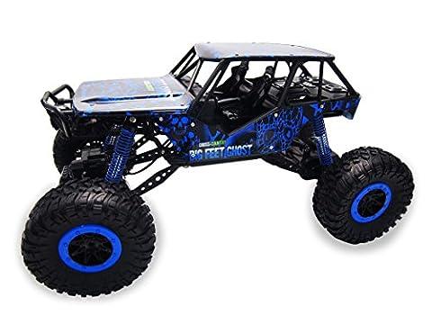Amewi 22218 - Crazy Crawler 4WD RTR 1:10 Rock, Fahrzeug, blau