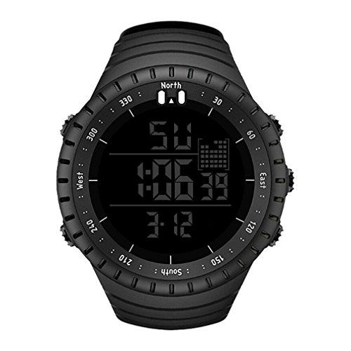 ODJOY-Fan Herren Uhr Digital Auto-Quarzwerk mit Sonstige Materialien Armband SN090 (Schwarz,1 PC)