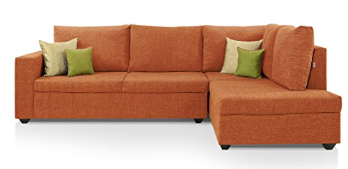 Comfort Couch Classic Lounger Sofa Set (Orange)