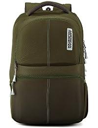 American Tourister 30.5 Ltrs Olive Laptop Backpack (AMT Helix Laptop Bag 01 Olive)