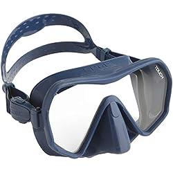 SEAC Touch Masque Frameless à Volume réduit pour la plongée sous-Marine, en Silicone Adulte Unisexe, Bleu, Standard
