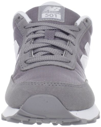 New Balance Classics Traditionnels Grey White Womens Trainers (Grey with White)