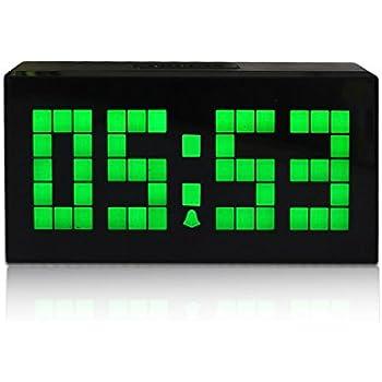 Nouveau Mode Trois Dimension 16,5cm Digitale Réveil LED Horloge Murale à  Vert LED Clock
