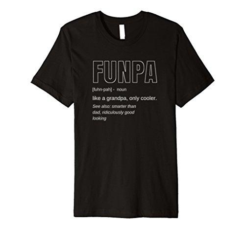 Mens Funny FUNPA Fun Grandpa Novelty Neon T Shirt