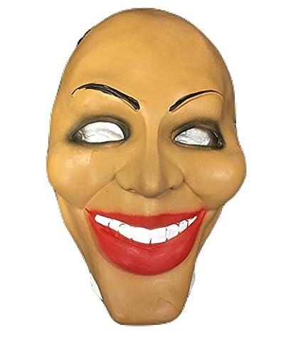 Säuberung Gesicht Stil Latex Maske - Kostüm geschnürt Halloween Kleidung - universell Größe mit (Purge-kostüme Für Halloween)