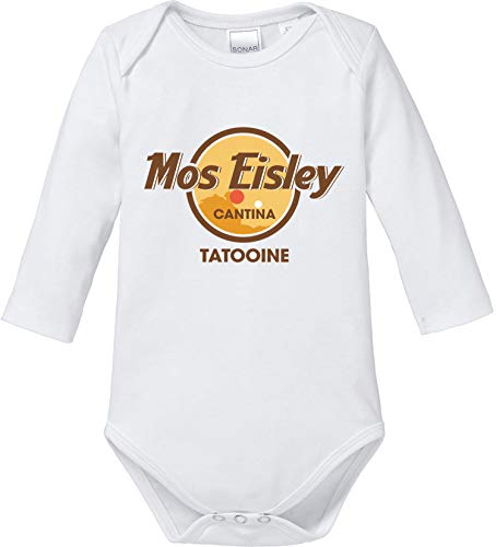 AngryShirts Mos Eisley Cantina Body Baby Langarm Bio Baumwolle