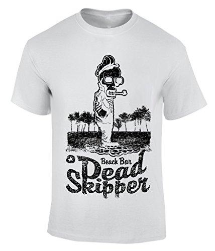 Dead Skipper T-Shirt Herren Weiß