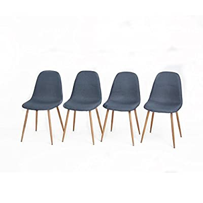 Aingoo Set of 4 dining Chairs CHARLTON - inexpensive UK light shop.