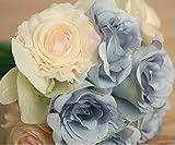 Bumen kunstblumen 1 Pack 12 Stück Seidenrosen tischdeko Hochzeit deko hochzeitsspiele deko Ideen kunstblumen Hochzeitsblumenstrauß Blumenschmuck Rose Versand - 4