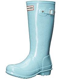 Hunter Girl's Original Kids Glitter Mid-Calf Rubber Rain Boot