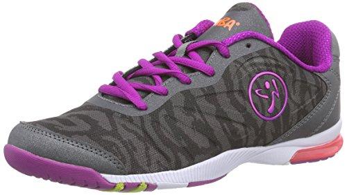 Zumba Footwear Zumba Impact Pulse, Damen Hallenschuhe, Grau (Graphite Camo), 40.5 EU