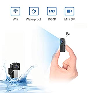 Waterproof Mini Spy CamerasHiddenWifi,NIYPS Wireless HD 1080P Portable SmallHome Nanny Cam With Night Vision and Motion Detection,Covert IP SecuritySurveillance Camera for Indoor and Outdoor
