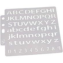 Hothap - Plantillas para troqueladora con Forma de Letra, para Pintar, Aprender y Decorar