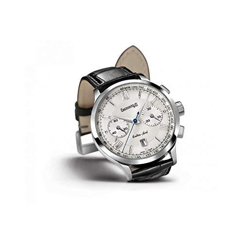 Orologio Eberhard EXTRA FORT GRAND TAILLE 31953.4 Automatico Acciaio Quandrante Argento Cinturino Pelle