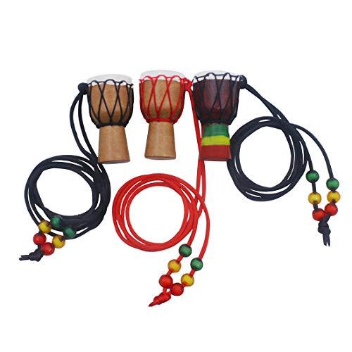 Halskette für Damen oder Herren, Djembe Necklace, Anhänger mit Anhänger, klassisch aus Holz für Zuhause im Auto, Geschenk zu Weihnachten Geburtstag (Modell Casual).