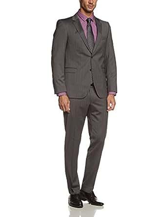 Strellson Premium Herren Anzüge (Zweiteiler) Slim Fit, gestreift 11003460 / Rick-James, Gr. 102, Grau (213)