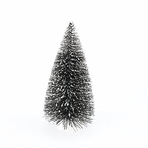 10 Stück Künstliche Mini Weihnachtsbaum Tisch Dekorative Baum mit Schnee effekt Weihnachten Festival Party Dekoration Geschenk (Weihnachten Schneekugel-display)