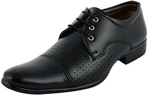 Anshul Fashion men's black synthetic formal shoes-6 (RYL-2001-Black_6)