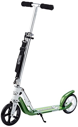 HUDORA Big Wheel 180 Scooter, Tret-Roller - City-Scooter klappbar, weiß/grün, 14767