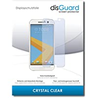 [3 Pack] HTC 10 Lifestyle Screen Protector disGuard® [Crystal Clear] Protective Film, Invisible, Transparent, Clear / Scratch Resistant, Bubble-Free Install, Anti-Fingerprint, Anti-Scratch / Protector Film, Screen Guard