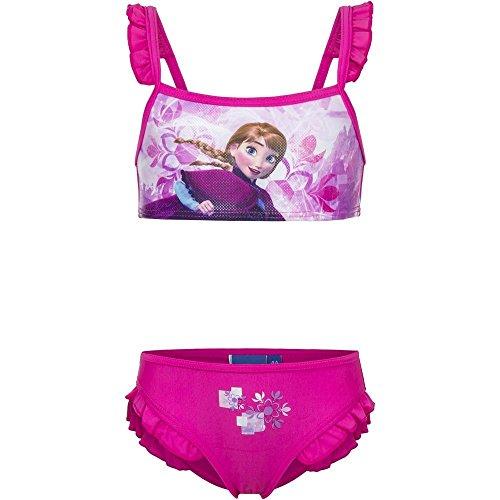 Disney Bañador 2 piezas Bikini Infantil Frozen niñas con adornos de volantes...