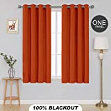 Divine Casa Blackout Curtains Thermal Insulated with Grommet Solid Window Curtains for Living
