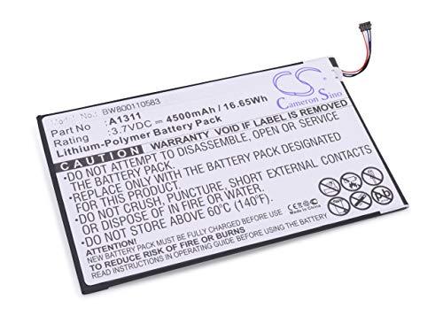 vhbw Li-Polymer Batterie 4500mAh (3.7V) pour Netbook Pad Tablette Acer A1-830 comme A1311.