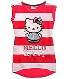 Hello Kitty T-Shirt ohne Arm Tanktop 3 Verschiedene Motive 3 Farben zur Auswahl, Farbe:pink/weiß, Größe:128