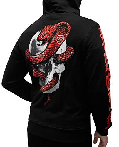 8eae5c0dfbf Philipp Plein - Moment - Sweatshirt Hoodie with Skull and Snake Print (M)  Black