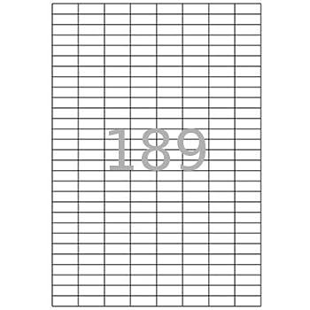 100x DIN A4 Etiketten Klebeetiketten selbstklebend Bögen weiß Größe 18 x 58 mm