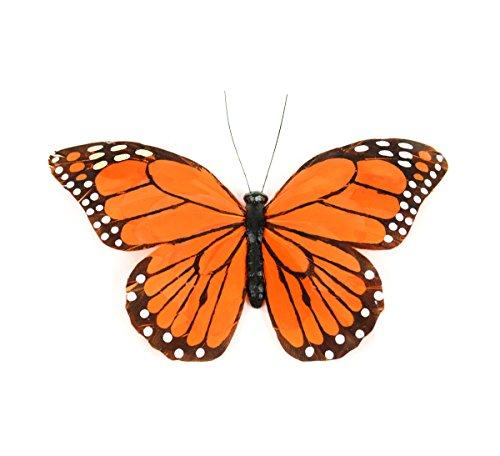 Touch of Nature 24003 Monarch Schmetterling mit Clip, 21 cm, Orange -