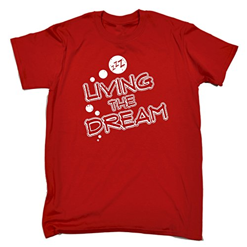 123t Slogans Men's Living The Dream Sleeping Design Men's T-Shirt