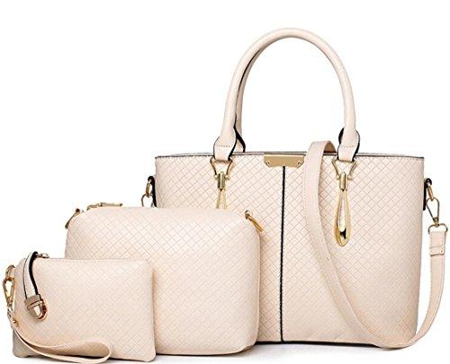 X&L Drei-piece Ma schräge Schulter Handtasche White