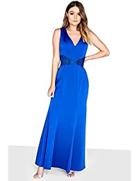 Little Mistress Womens Ladies Guipure Lace Fishtail Maxi Dress bdea4f280
