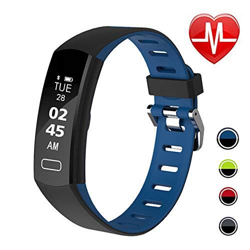 LIGE Fitness Tracker Pulsmesser, Ultradünn Schwarz Activity Tracker, Smart Schrittzähler Uhr Schlaf Monitor Schrittzähler Kalorienzähler wasserdichte Fitness Uhr Kinder Frauen Männer
