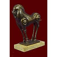 Statua di bronzo Scultura...Spedizione Gratuita...Famoso cinese Tang cavallo Museo Decor Qualità(XN-2298-JP)Statue Figurine Figurine Nude per ufficio e casa Décor Primo Giorno Collezionismo Articoli