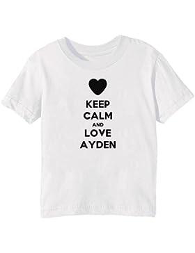 Keep Calm And Love Ayden Bambini Unisex Ragazzi Ragazze T-Shirt Maglietta Bianco Maniche Corte Tutti Dimensioni...