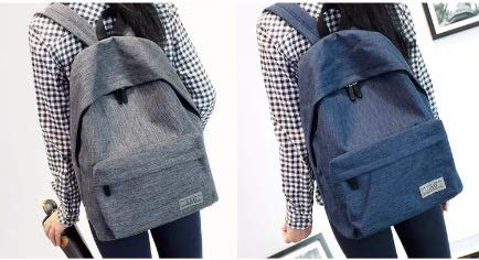 Diswa Classical Unisex Backpack for Women Nylon Child School Bag Special Use for Picnic 30 * 40 * 16 cm (Navy Blue) Image 4