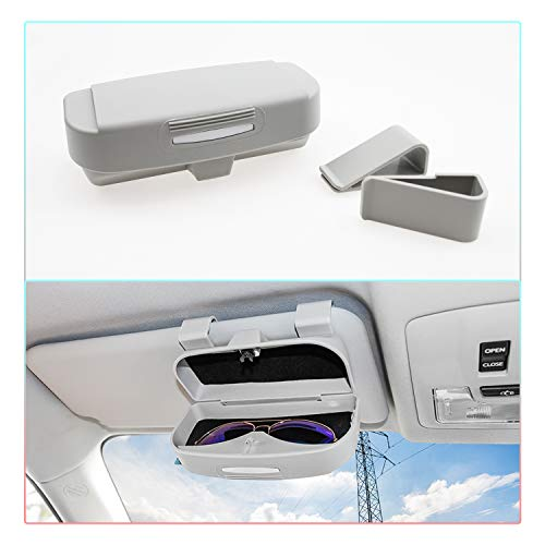 CDEFG Sonnenbrillenhalter Universal Brillenetui Auto Brillenhalter Auto Glasses Case Holder Brillenetui Käfig (Grau)