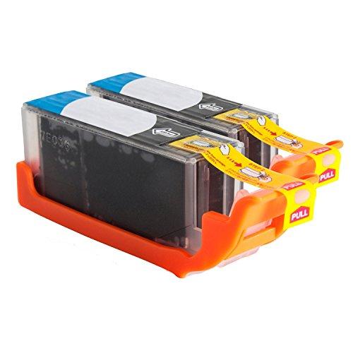 Preisvergleich Produktbild Inkadoo® Tinte passend für Canon Pixma TS 5000 Series ersetzt Canon PGI-570 PGBKXL 0318C007 - 2x Premium Drucker-Patrone Kompatibel - Schwarz - 2x10, 8 ml