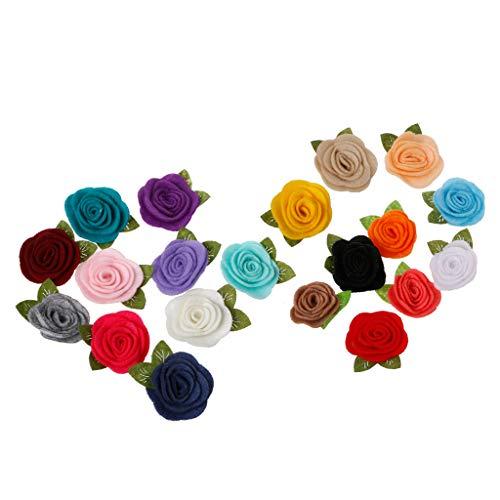 VIccoo 10 Stück Handgemachte Filz Rose Blume DIY für Baby Mädchen Haarschmuck Stirnband Hüte