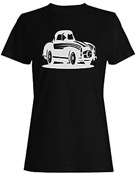 Novedad vieja del coche de coches del vintage divertida camiseta de las mujeres a953f