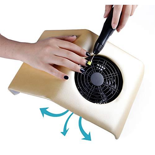 MTNAILS 30W Elektrisch Nagel Staubsauger Nägel Staub Kollektor Saugen Staub Maschine Nägel Kunst Mini Maniküre Maschine Kraftvoll Werkzeug mit Staub Taschen (Gold) - Maschine Staub