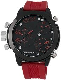 CEPHEUS Herren-Armbanduhr XL Analog Quarz Silikon CP902-624