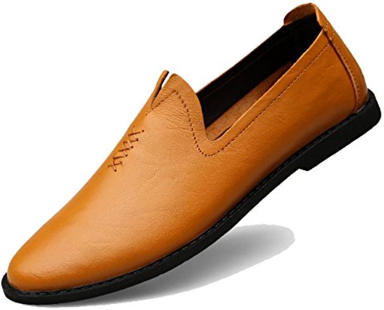 XYNXKZ Hombres Informal Moda Conducción Cómodo Transpirable Zapatos De Cuero -