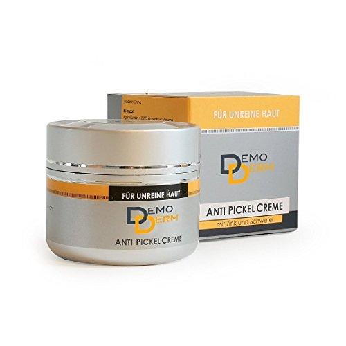 DemoDerm Anti-Pickel Creme - 20g – Zink-Salbe für unreine Haut, gerötete Haut oder fettige Haut - Mitesser