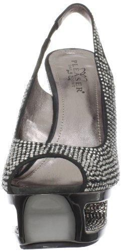 Pleaser Day & Night DELUXE-654RS Damen Strass High Heels D. Grey Suede